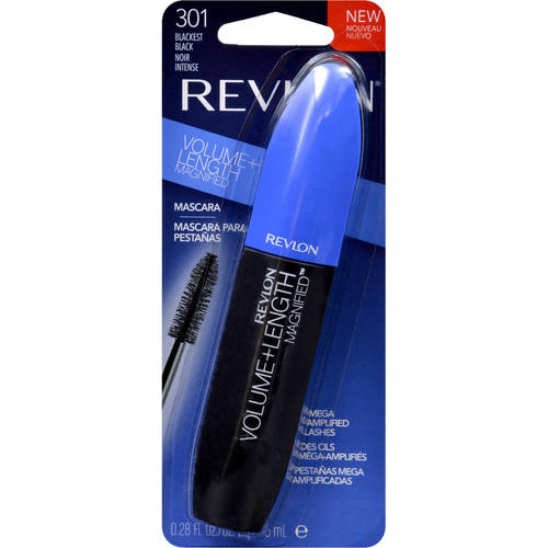 Revlon Volume + Length Magnified Mascara, 0.28 fl Oz, Blackest Black