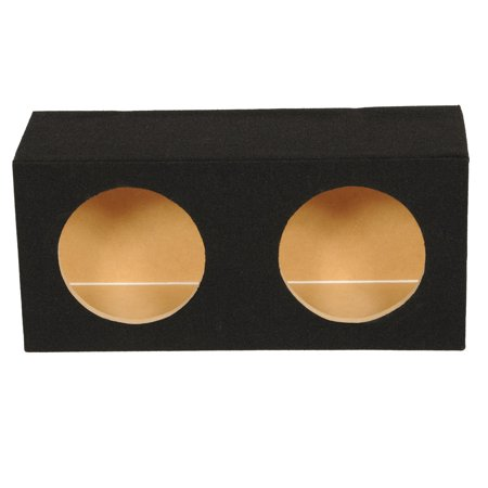 Q Power Solo Series Universal Dual 8 Inch Sealed Compact Car Subwoofer Enclosure