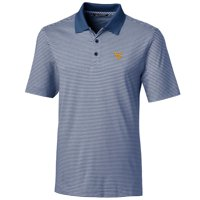 West Virginia Mountaineers Cutter & Buck Big & Tall Forge Tonal Stripe Polo - Navy