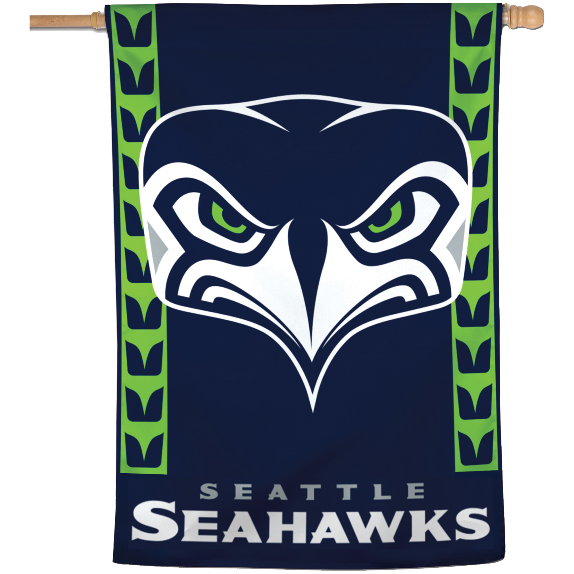 "Seattle Seahawks WinCraft 28"" x 40"" Secondary Logo Single-Sided Vertical Banner - No Size"