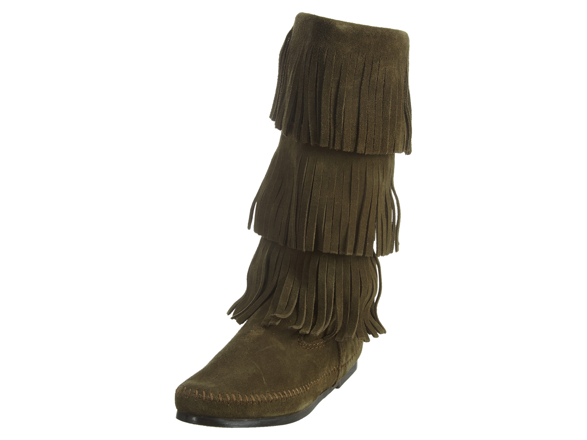 Minnetonka 3 Layer Fringe Boot Womens Style : 1635f by