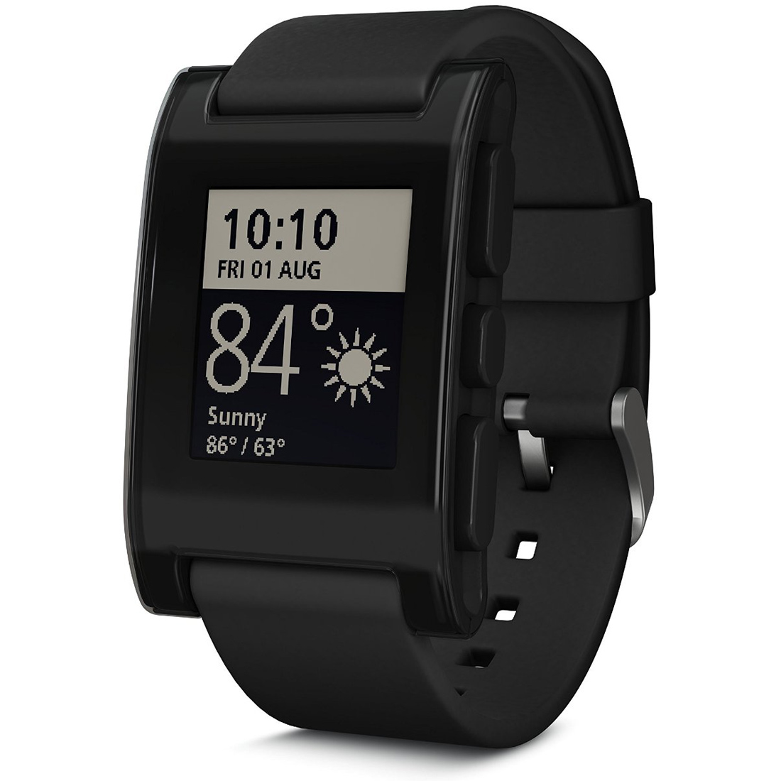 Pebble Smart Watch for iPhone and Android Devices (Black) 301BL