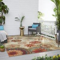 Mohawk Home Alexa Medallion Indoor/Outdoor Nylon Rug, 5' x 8', Multi-Colored