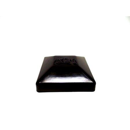 - 32 PACK Fence Post Plastic Black Caps 4X4 (3 5/8
