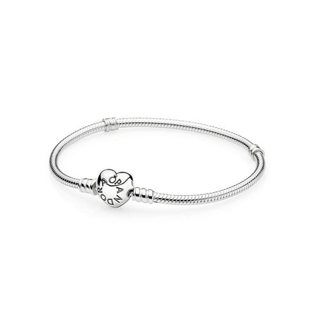 Pandora Moments Silver Bracelet with Heart Clasp 18CM - 590719-18 ()