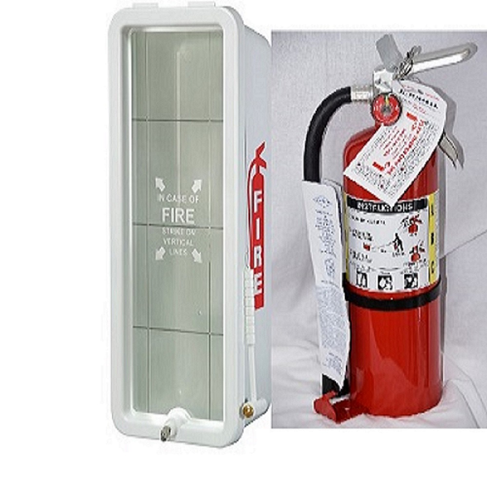 Amerex B500 Fire Extinguisher W / Cabinet Combo