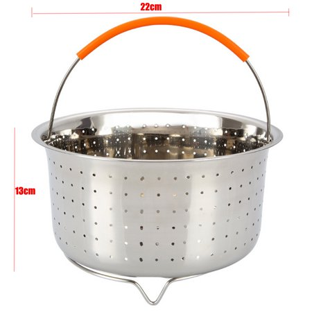 For Instant Pot /Rice Pressure Cooker Food Steam Steamer Basket w/Handle 304 Stainless Steel  - image 4 of 9