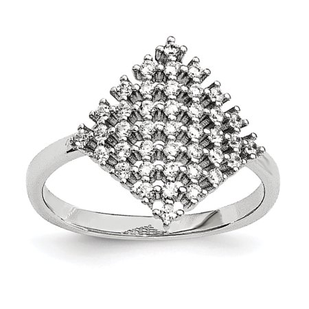 Sterling Silver & CZ Brilliant Embers Ring Size 6 - image 1 of 3
