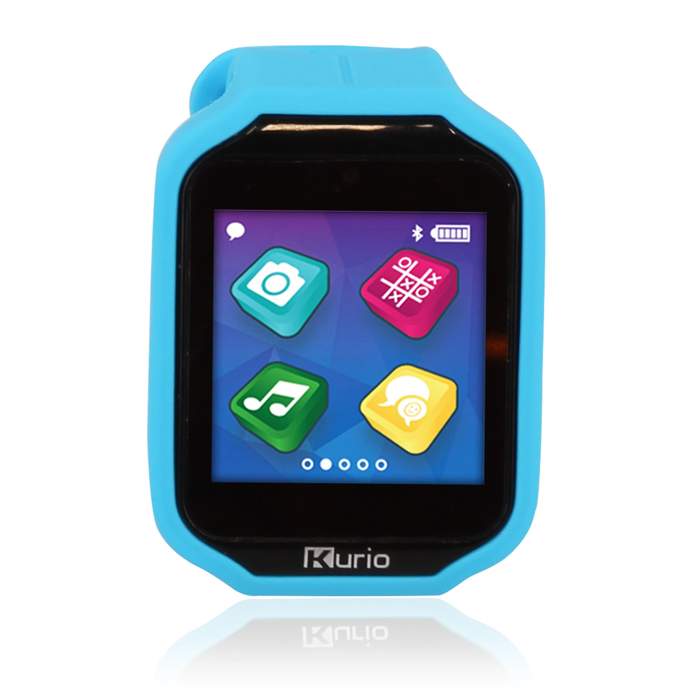 Kurio Watch 2.0+ Smartwatch Built for Kids with 2 Bands, Blue and Red/Orange Color Change