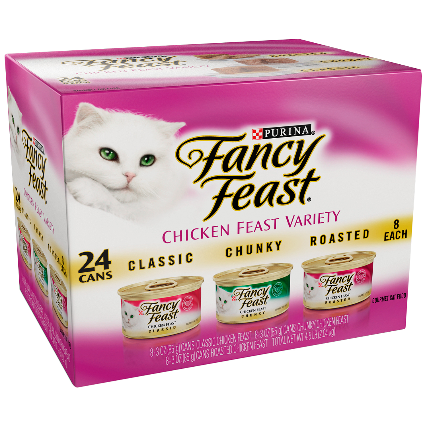 Purina Fancy Feast Chicken Feast Variety Cat Food 24-3 oz. Cans