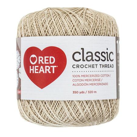 Red Heart Classic Cotton Size 10 Crochet Natural Thread, 1 (Crochet Thread Natural)