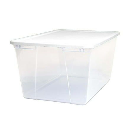 Homz 90 Snaplock® Quart Clear Storage Container with White Lid