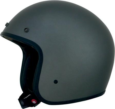 Affex FX-76 Solid Open Face Helmet Frost Gray