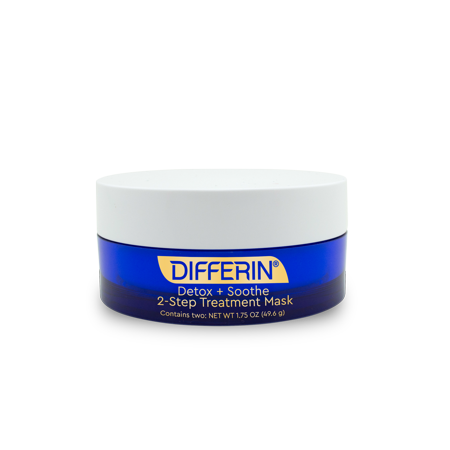 Differin Detox + Soothe 2-Step Treatment Clay Face Mask, 1.75 oz