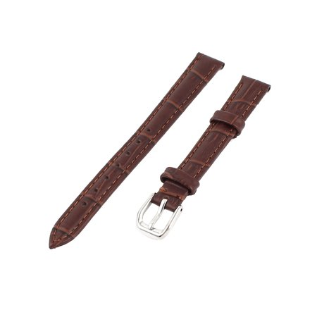 Unique Bargains Brown Faux Leather Retro Style Replacement Wrist Watch Band Strap for Ladies