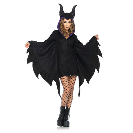 Leg Avenue Women's Cozy Villain Costume, Black, Small