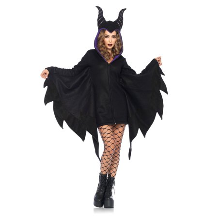 Leg Avenue Women's Cozy Villain Costume, Black, Small](Women Villian)