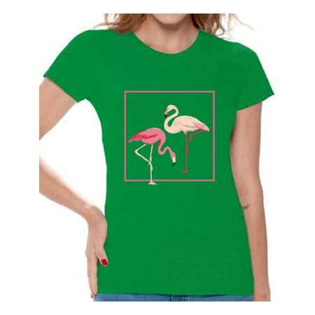 Awkward Styles Flamingo Love Tshirt for Women Vintage Flamingo Shirt Flamingo Summer T Shirt Flamingo Gifts for Her Flamingo Lovers Beach Party Outfit Retro Flamingo T-Shirt Pink Flamingo