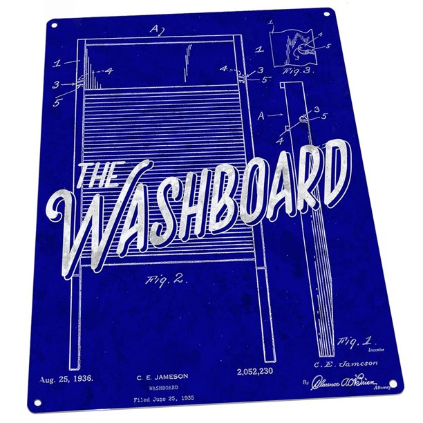 Outdoor Blueprint Washboard Patent Illustration 9 X12 Metal Sign Wall Decor For Bath Or Laundry Guaranteed Not To Fade For 4 Years Walmart Com Walmart Com