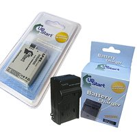 Canon Rebel XS Battery and Charger - Replacement for Canon LP-E5 Digital Camera Batteries and Chargers (1200mAh, 7.4V, Lithium-Ion)