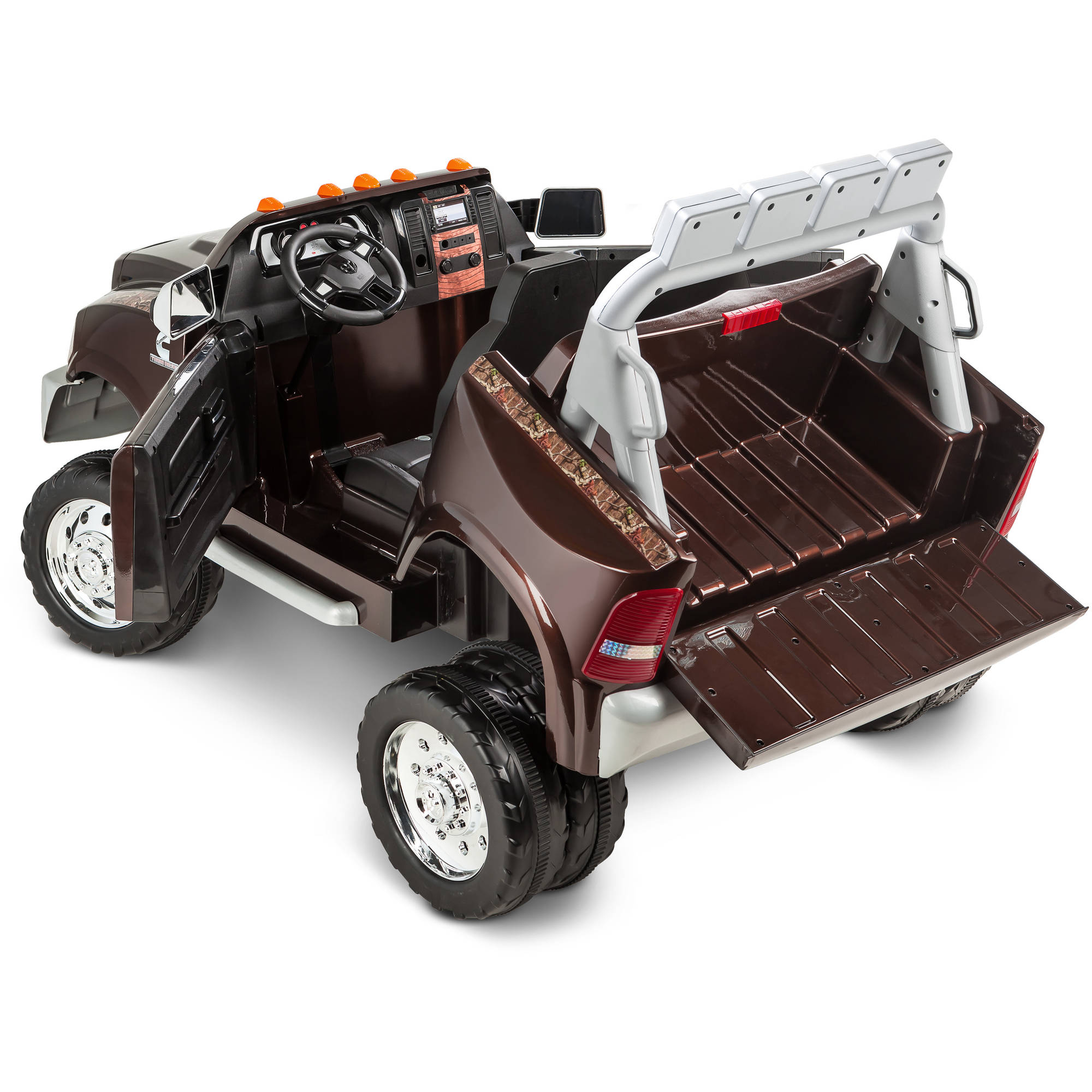 kidtrax ram 3500 dually longhorn edition 12 volt battery powered ride on walmartcom