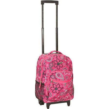 Rockland Luggage Roadster 17  Rolling Backpack  Bandana