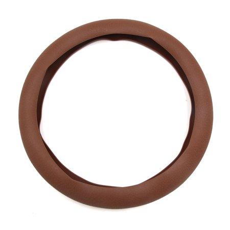 32cm Outer Dia. Car Rubber Antislip Comfortable Steering Wheel Cover Brown Brown Steering Wheel Cover