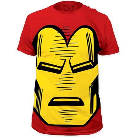 Iron Man Marvel Comics Face Adult Superhero T-Shirt Tee](Marvel Heroes Womens)