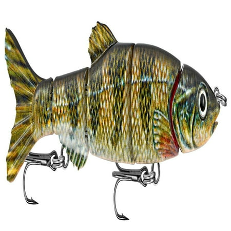 Matzuo 5-Section Jointed Doragon Minnow Fish Bait Lure - 6 Inch - Perch (Fish Perch)