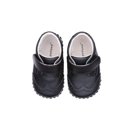 pediped Originals Ashton Crib Shoe (Infant),Black,Extra Small (0-6 Months) Pediped Infant Shoes