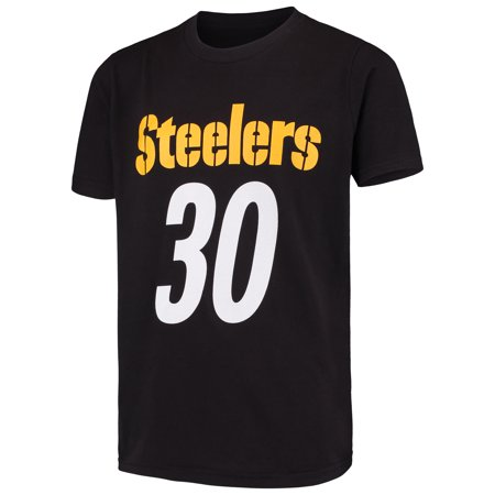 0ac1674eb8d James Conner Pittsburgh Steelers Youth Mainliner Name & Number T-Shirt -  Black - Walmart.com
