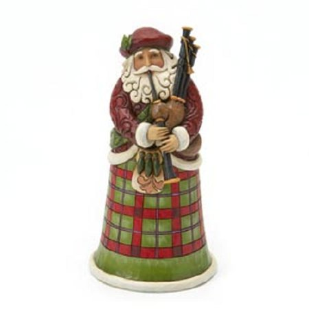 Jim Shore Heartwood Creek Scottish Santa Creek Christmas Figurine 4018857 - Jim Shore Halloween Figurines