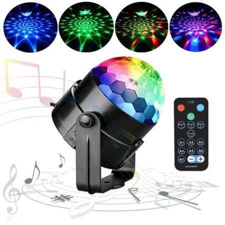 Party Disco Lights Strobe Led Ball Sound Activated Dance Bulb Lamp Decoration US (Spring Dance Decorations)