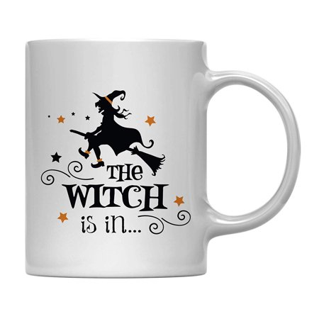 Andaz Press 11oz. Coffee Mug Gift, The Witch is in, Halloween October Present Ideas with Gift