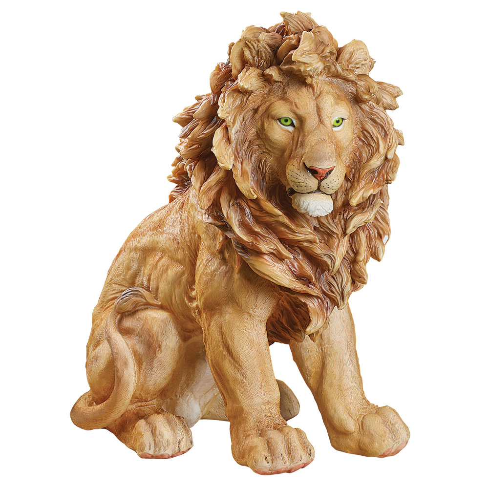 Collections Etc. King of the Jungle Lion Garden Statue, Outdoor or Indoor Décor