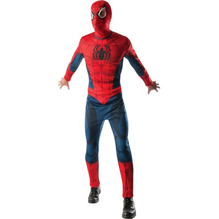 Mens Spider-Man Jumpsuit Halloween Costume (Spiderman Costumes Adults)