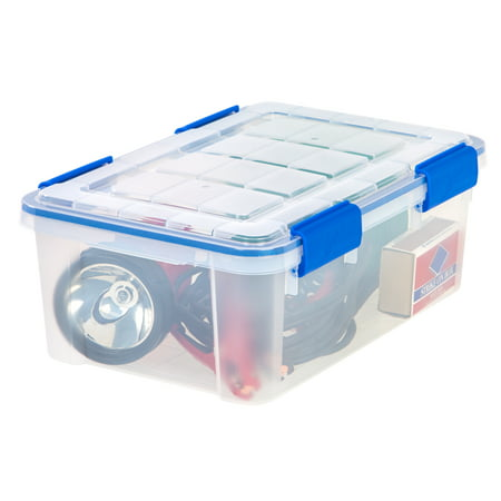 Ziploc 16-Quart (4-Gallon) WeatherShield Storage Box, Clear ()