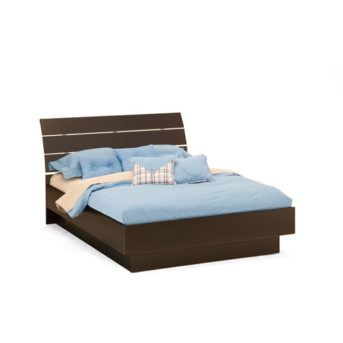 laguna queen platform bed with headboard lacquered espresso image 2 of 6