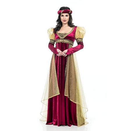Renaissance Lady Adult Costume Wine Red - X-Large](Wine Bottle Costume)
