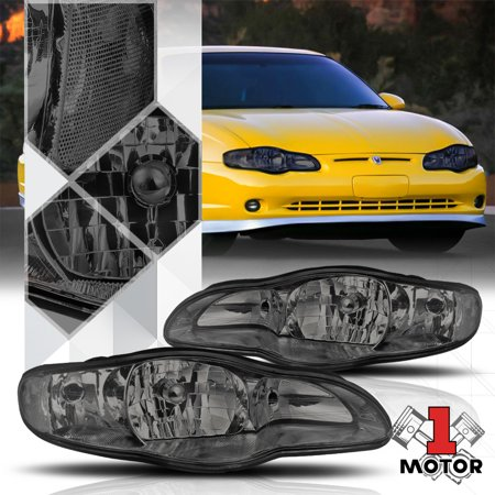 Smoke Tinted Headlight Clear Turn Signal Reflector for 00-05 Chevy Monte Carlo 01 02 03 04