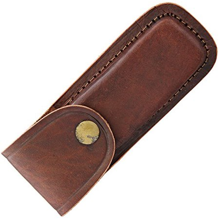 5 Inch Brown Leather Knife Sheath  Blanks Bolster Tracker New Overall Basketweave Genuine Buck Fulltang Old Sh1132sh202 Ls2 Ls1 Black Sheath Full Blade 110    By Pakistan