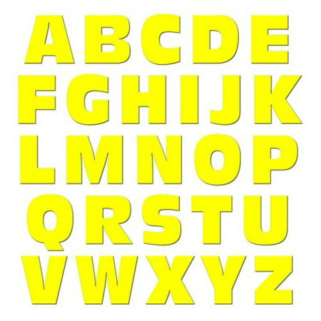Graphics and More Alphabet Letters Uppercase Novelty Gift Locker Refrigerator Vinyl Magnet Set, (Yellow Refrigerator)