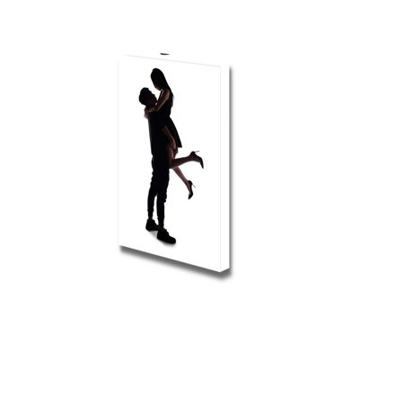 Canvas Prints Wall Art Silhouette Of Two Lovers Romantic Couple