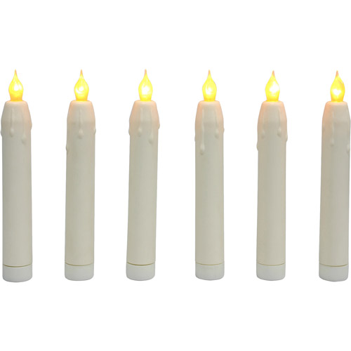 Mini LED Taper Candles, 6-Pack