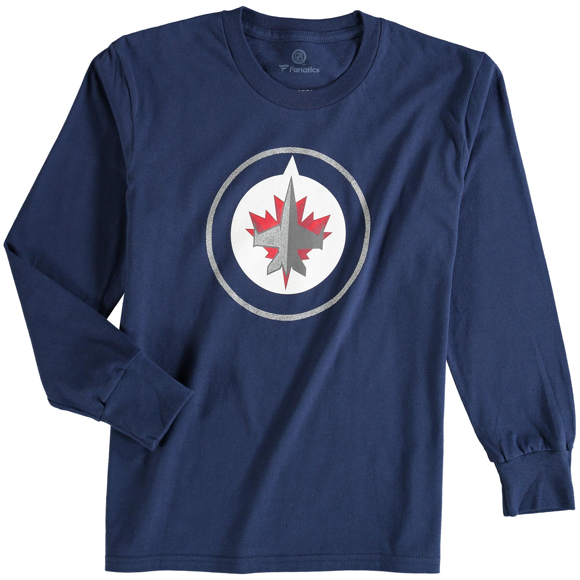 Winnipeg Jets Rinkside Youth Primary Logo Long Sleeve T-Shirt - Navy