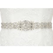 HDE Rhinestone Bridal Belt Sash Crystal Wedding Sash Belt for Wedding Dress Gown