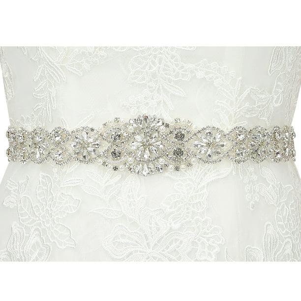Hde Hde Rhinestone Bridal Belt Sash Crystal Wedding Sash Belt For Wedding Dress Gown Walmart Com Walmart Com