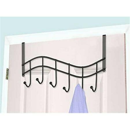 6-Hook Over The Door Hanging Rack, Black Onyx - image 1 de 1