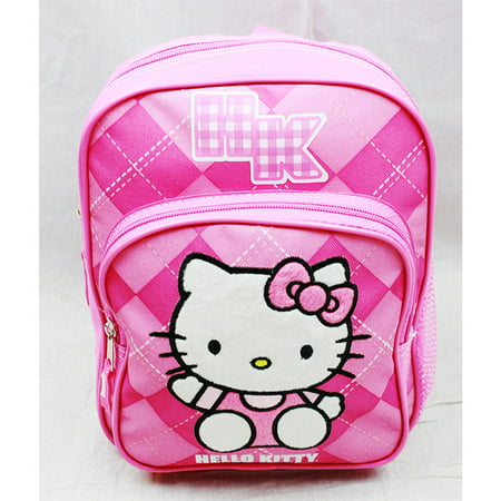 Hello Kitty Bag Pack (Mini Backpack - Hello Kitty - Pink Checker New School Bag Book Girls)