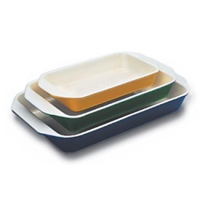 World Cuisine A1735228 Medium 1.75 Qt Green Rectangular Dish